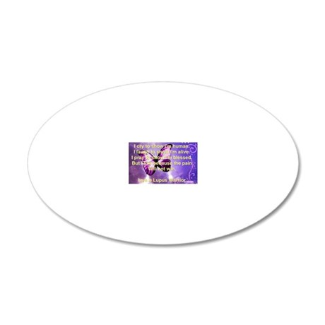 Lupus Warrior 20x12 Oval Wall Decal