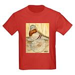 Mealy English Trumpeter Pigeo Kids Dark T-Shirt