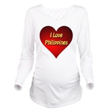 I Love Philippines Long Sleeve Maternity T-Shirt