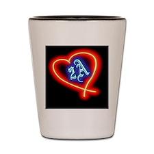 Second Amendment Love Shot Glass