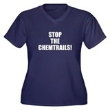 Stop the Chemtrails! Women's Plus Size V-Neck Dark