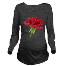 red rose dry brush black.png Long Sleeve Maternity