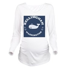 souv-whale-bham-BUT Long Sleeve Maternity T-Shirt