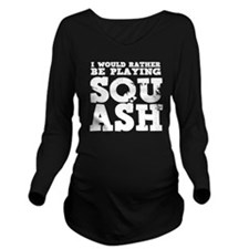 Squash Long Sleeve Maternity T-Shirt
