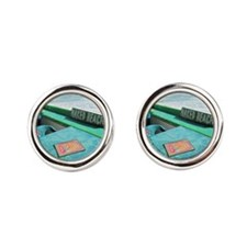 Naked Beach Cozumel Seashore Cufflinks