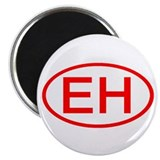 "EH Oval (Red) 2.25"" Magnet (100 pack)"