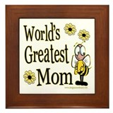 Mom Bumble Bee Framed Tile
