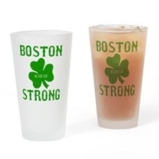 Boston Strong - Green Drinking Glass