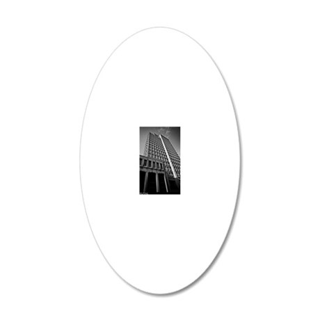 brutalism 20x12 Oval Wall Decal