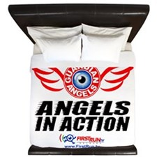Angels In Action - Color Logo King Duvet