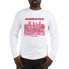Minneaplis_12X12_Downtown_Red Long Sleeve T-Shirt