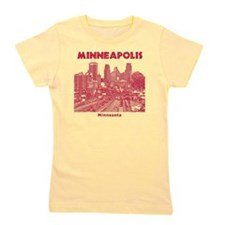 Minneaplis_12X12_Downtown_Red Girl's Tee