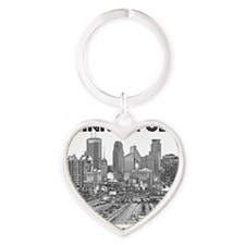 Minneaplis_12X12_Downtown_Black Heart Keychain