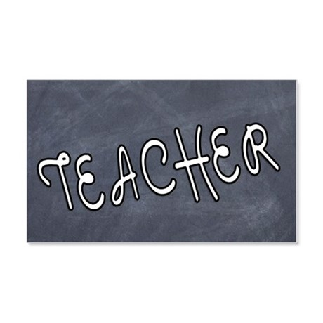 Teacher Black Board 20x12 Wall Decal