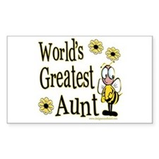 Aunt Bumble Bee Rectangle Decal
