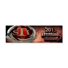 2103 Strategic retreat Car Magnet 10 x 3
