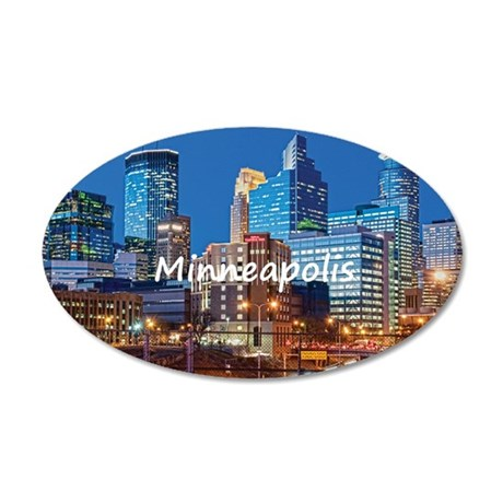 Minneapolis_2x3_magnet_Downt 35x21 Oval Wall Decal