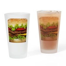 Burger Me Drinking Glass