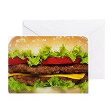 Burger Greeting Card