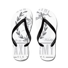 elk plain taxidermy logo Flip Flops