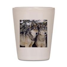 Wolf Couple Shot Glass