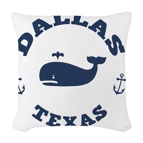 souv-whale-dallas-LTT Woven Throw Pillow