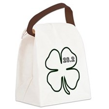 Dark Green Marathon Shamrock Canvas Lunch Bag