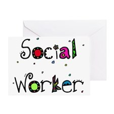 social worker PILLOW Greeting Card