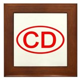 CD Oval (Red) Framed Tile