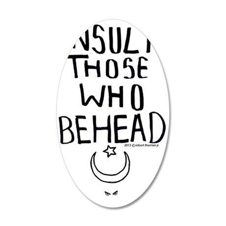 insult beheaders 35x21 Oval Wall Decal