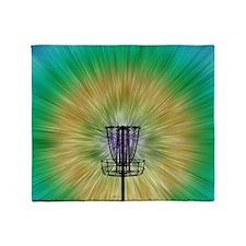 Tie Dye Disc Golf Basket Throw Blanket