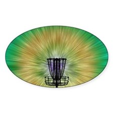 Tie Dye Disc Golf Basket Decal