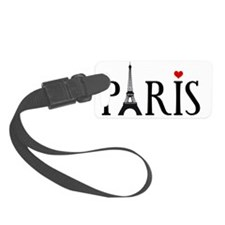 Paris with Eiffel tower and red  Luggage Tag