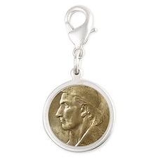 Daniel Boone Half Dollar Coin  Silver Round Charm