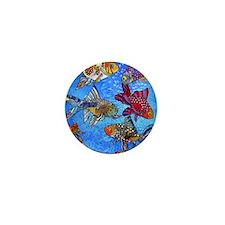 Wild Goldfish Mini Button