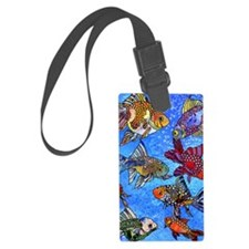 Wild Goldfish Luggage Tag