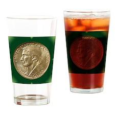 Daniel Boone Half Dollar Coin  Drinking Glass