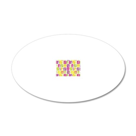 Flip Flop Bright White 20x12 Oval Wall Decal