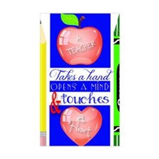 Teacher Touches a Heart Image Decal