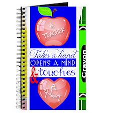 Teacher Touches a Heart Image Journal