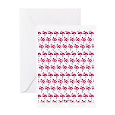 Flamingos Marching Greeting Card