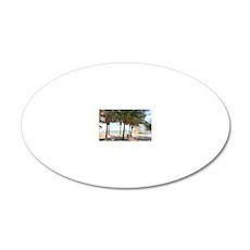 CRANDON BEACH 20x12 Oval Wall Decal