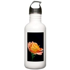 A Single Orange Rose Water Bottle