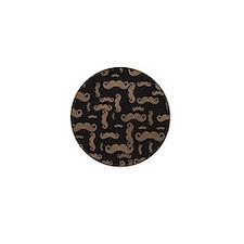 Retro Mustache Pattern Mini Button