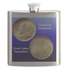Cleveland Centennial Half Dollar Coin  Flask