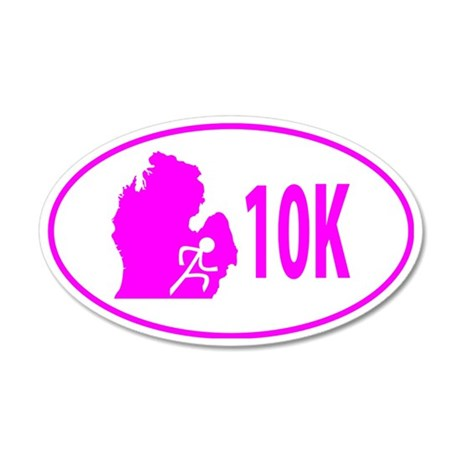 10K Pink 35x21 Oval Wall Decal