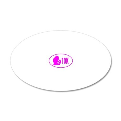 10K Pink 20x12 Oval Wall Decal