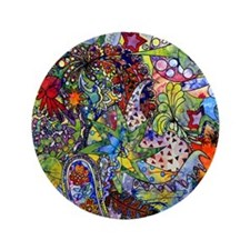 "Cool Paisley 3.5"" Button"