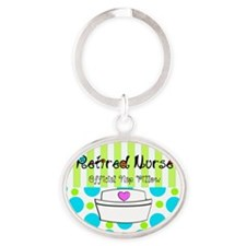 Retired Nurse Offician Nap pillow 1 Oval Keychain