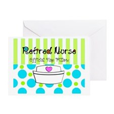 Retired Nurse Offician Nap pillow 1 Greeting Card